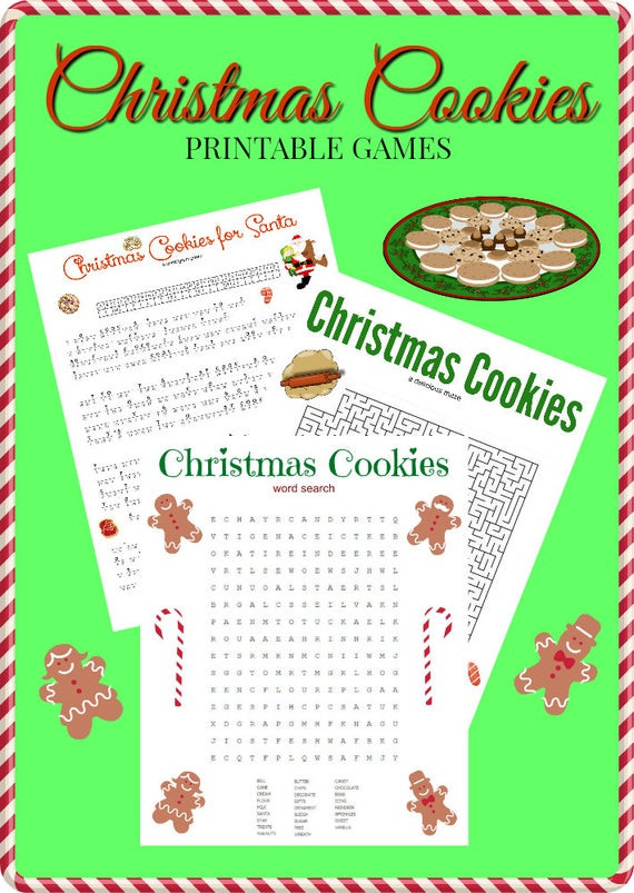 Christmas Cookies Games  Christmas Cookies Game Puzzle Set of 3 Cryptogram Word