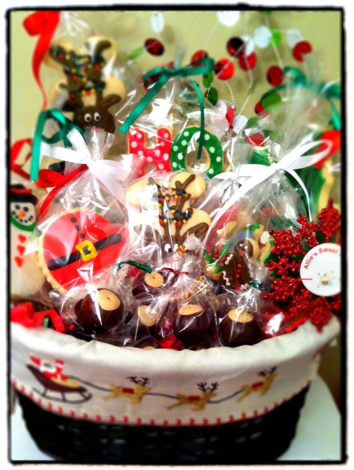 Christmas Cookies Gifts  Christmas Cookie Gift Basket