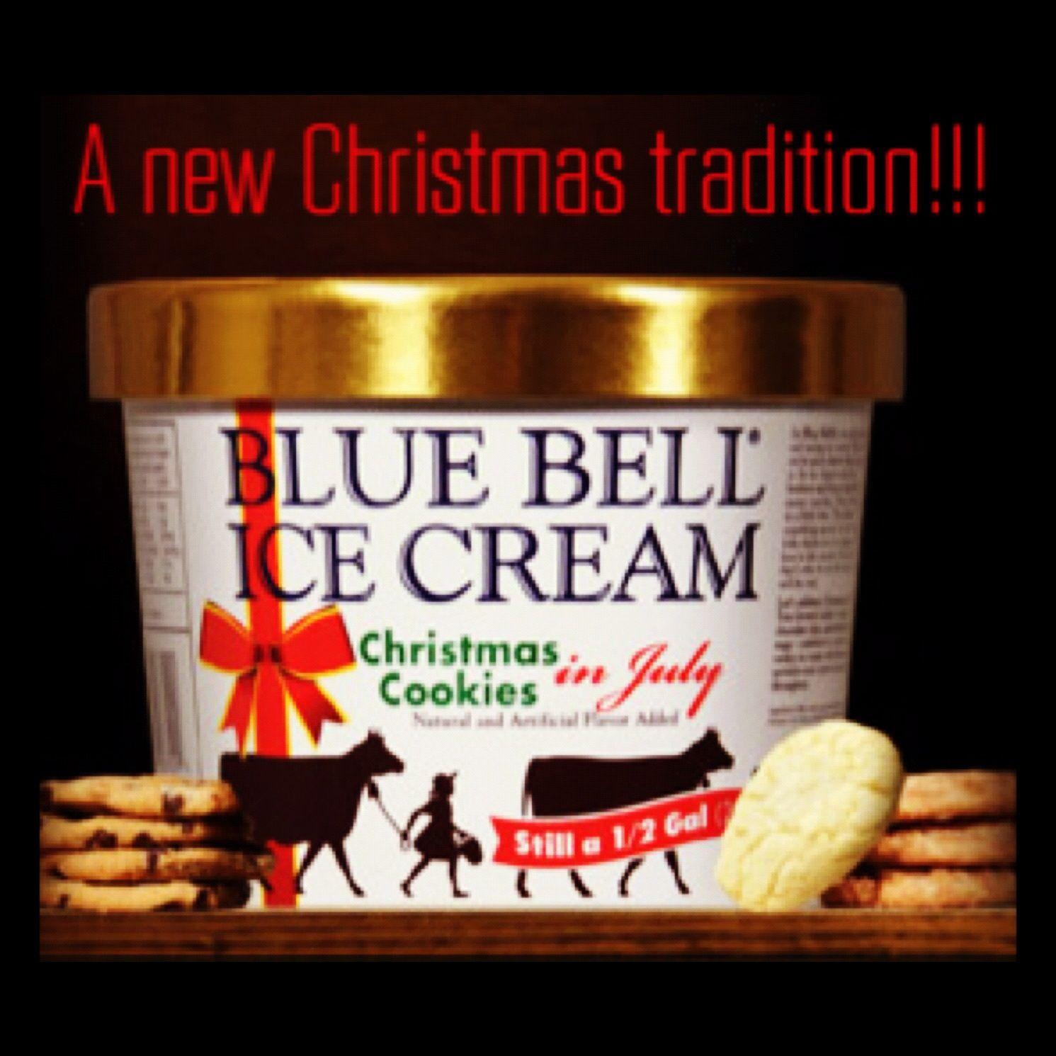 Christmas Cookies Ice Cream  Bluebell Christmas Cookie Ice Cream