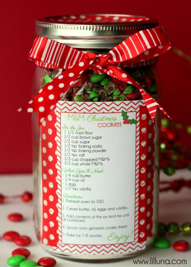 Christmas Cookies In A Jar  Christmas Cookie Jar Gift Idea