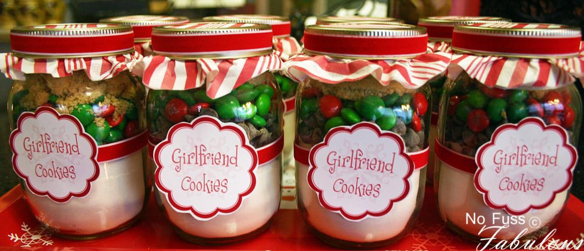 Christmas Cookies In A Jar  Christmas Girlfriend Cookies in a Jar Loralee Lewis