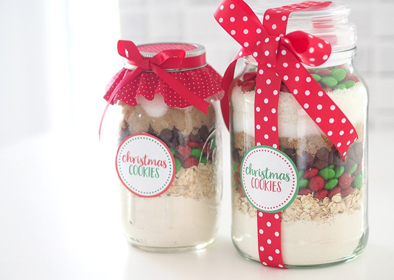 Christmas Cookies In A Jar  Gift Idea Christmas Cookie Mix in a Jar The Organised