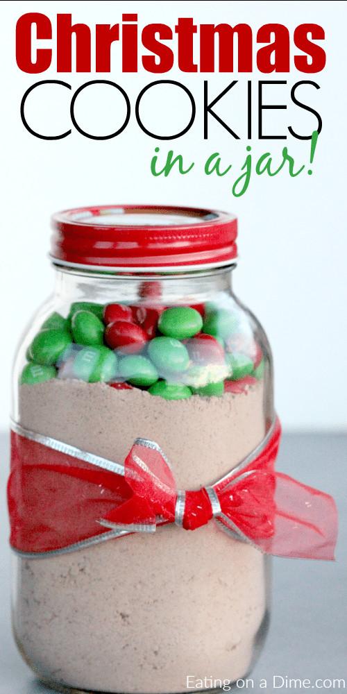 Christmas Cookies In A Jar  Christmas Cookies in a Jar simple cookie recipe in mason jar