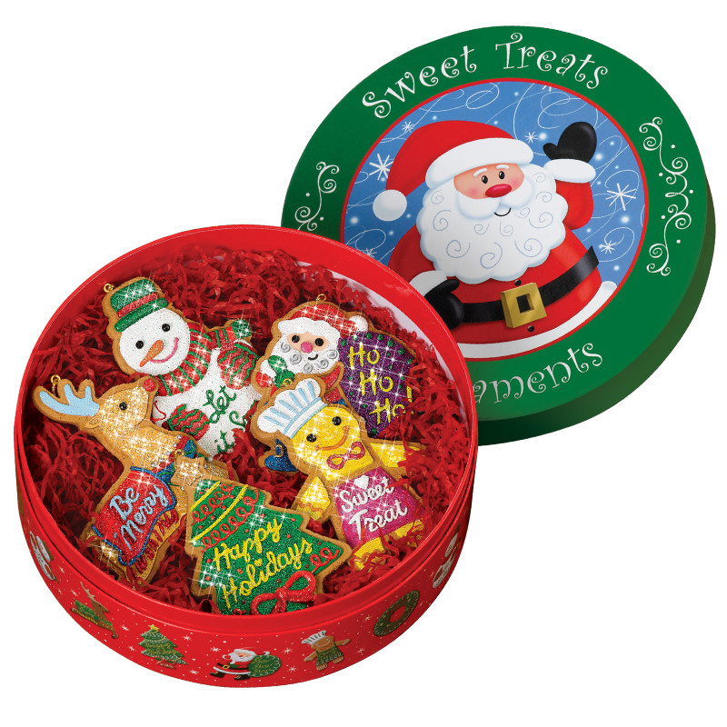 Christmas Cookies In A Tin  Christmas Cookies Ornament Set