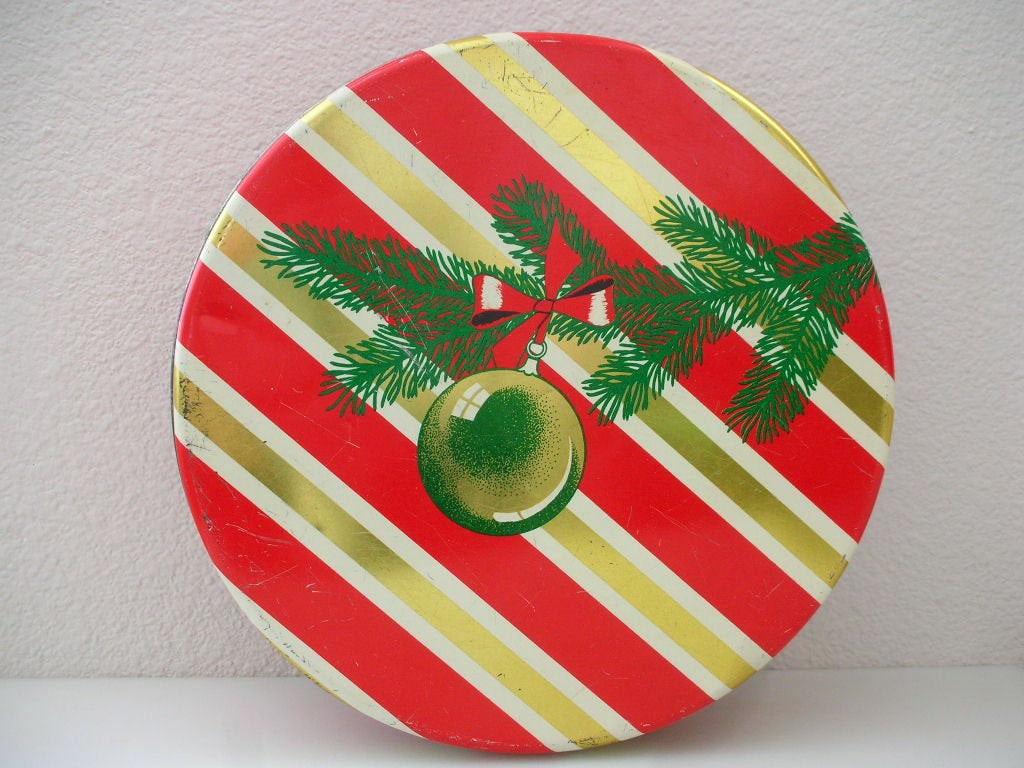 Christmas Cookies In A Tin  XL Christmas Cookie Tin Olive Can pany by