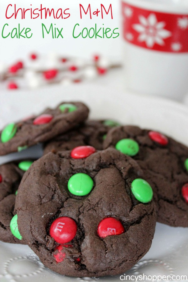 Christmas Cookies Mix  Christmas M&M Cake Mix Cookies Recipe CincyShopper