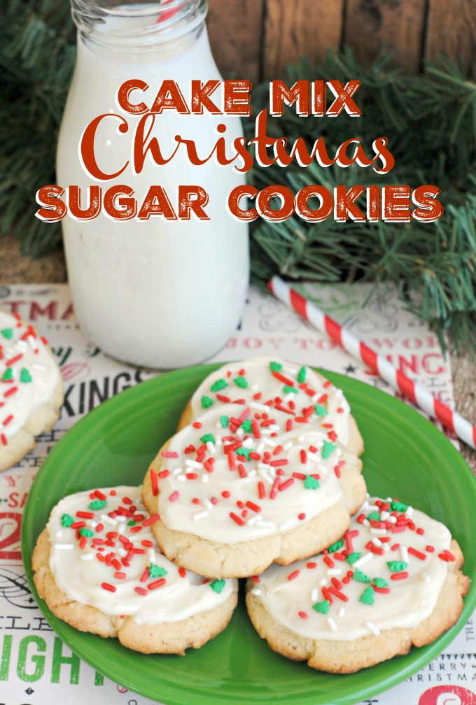 Christmas Cookies Mix  Cake Mix Christmas Sugar Cookies Recipe