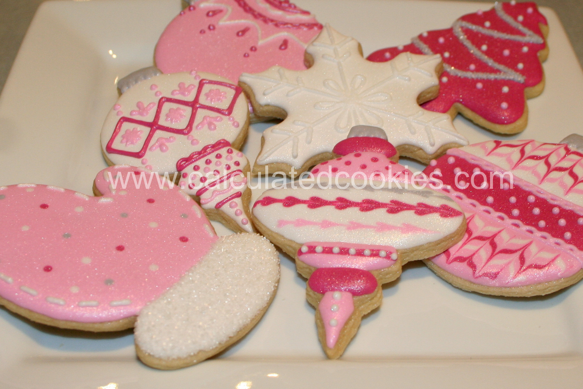 Christmas Cookies Order Online  Pink and Gray Christmas Cookies Calculated