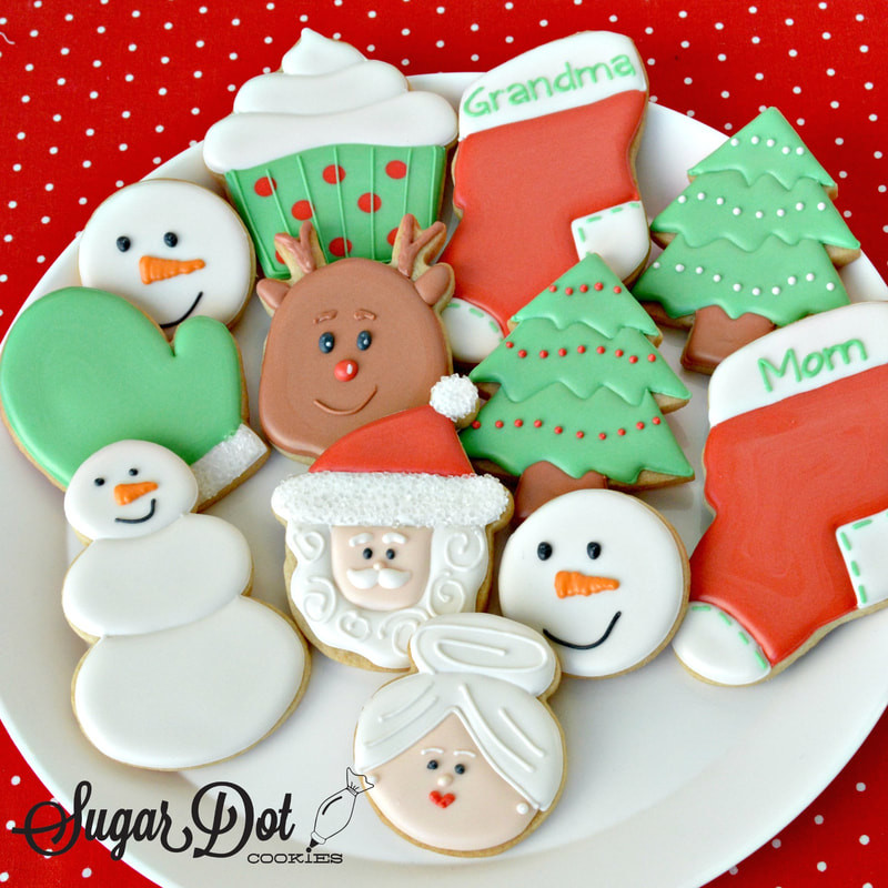 Christmas Cookies Order Online  Order Christmas Winter Sugar Cookies Custom Decorated