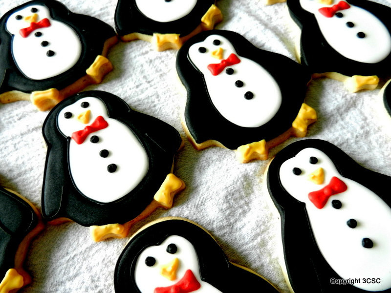 Christmas Cookies Order Online  PENGUIN Christmas Cookies Hand Decorated Sugar cookies e