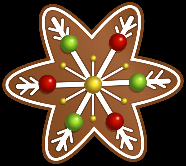 Christmas Cookies Png  Christmas Cookie Star PNG Clipart Image