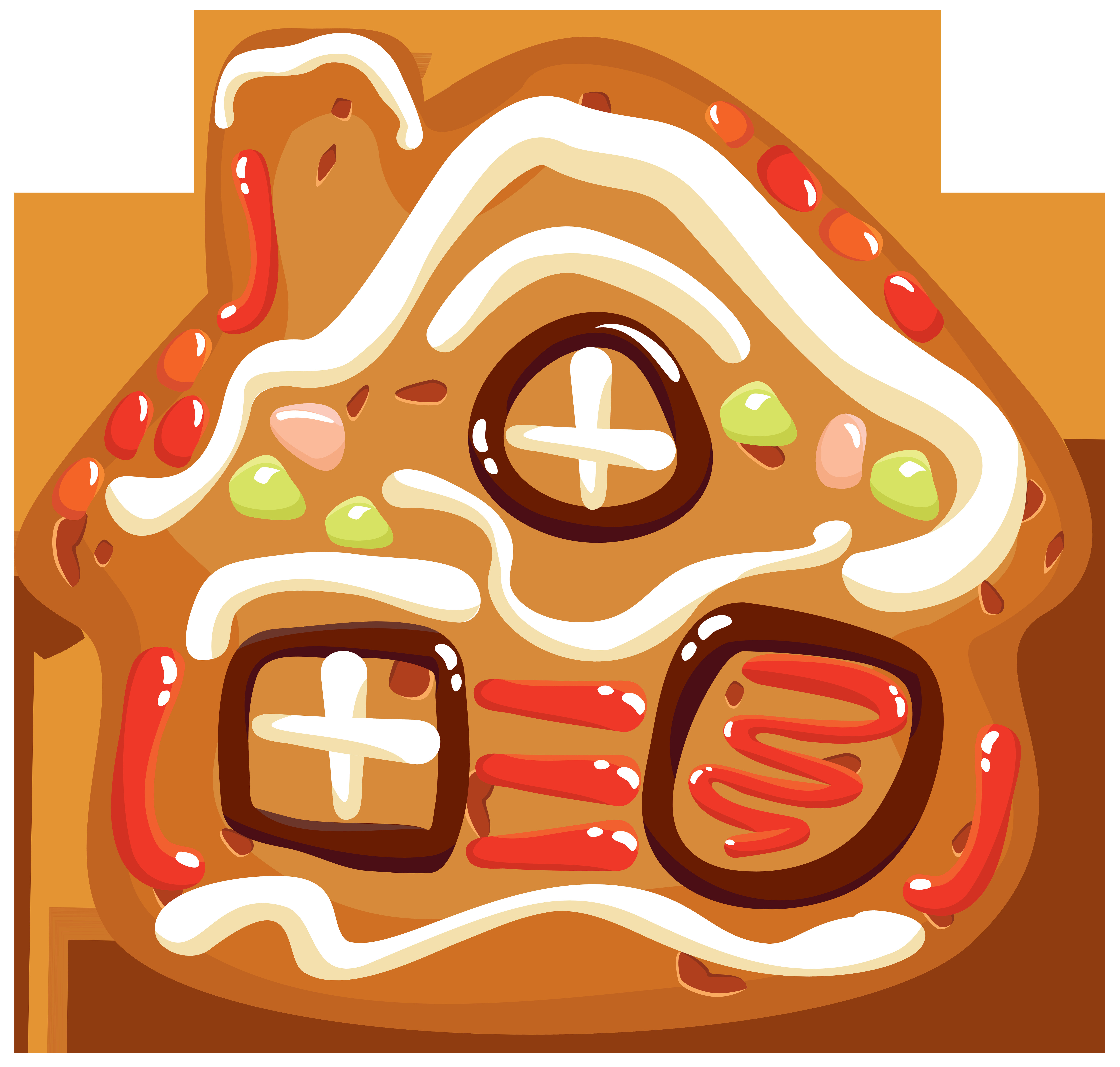 Christmas Cookies Png  Christmas Cookie House PNG Clipart Image