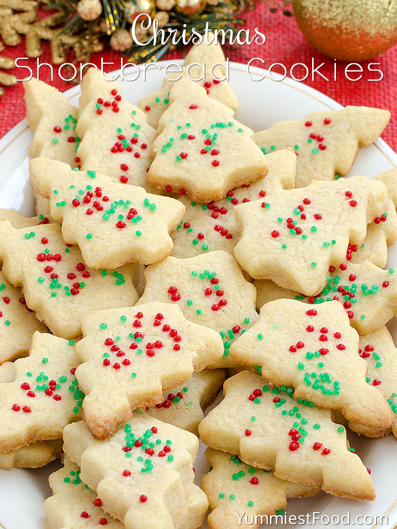Christmas Cookies Recipes  Christmas Shortbread Cookies Recipe from Yummiest Food