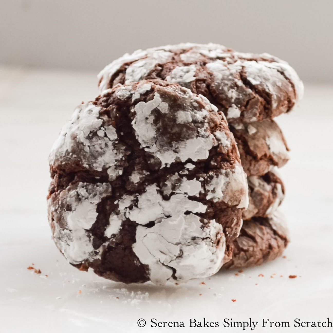 Christmas Cookies Recipes From Scratch  Chocolate Crinkle Cookies