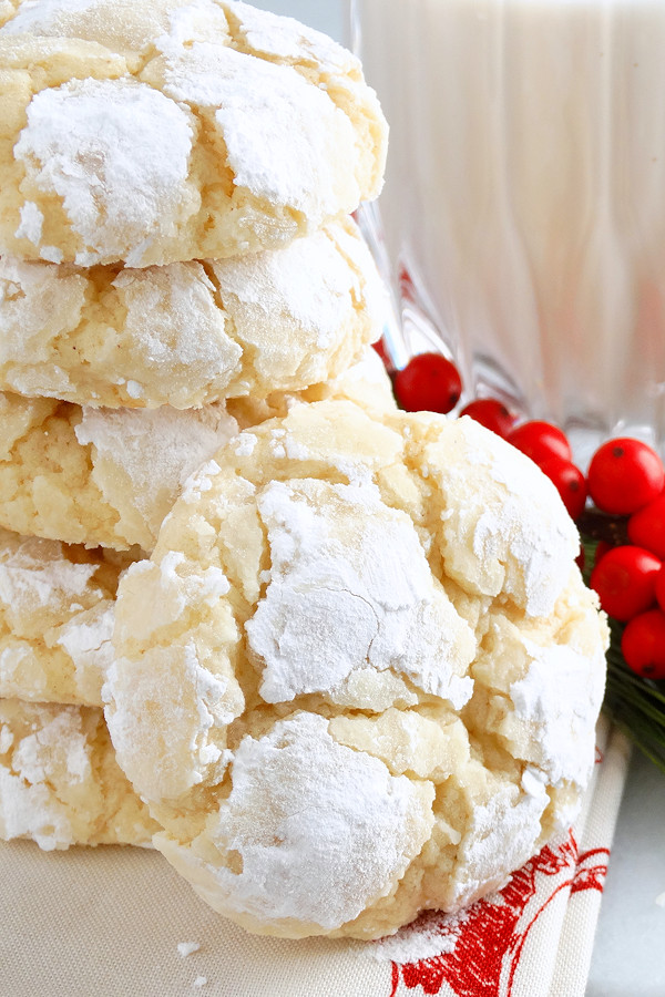 Christmas Cookies Recipes From Scratch  Eggnog Gooey Butter Cookies from scratch  Wicked Good