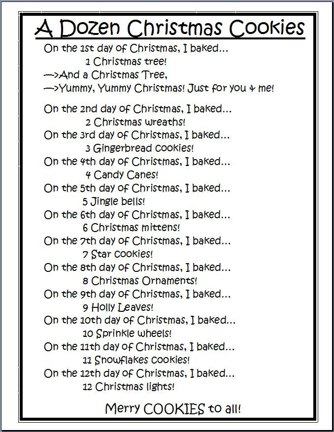 Christmas Cookies Song Lyrics  The Kinder Queendom ly 12 days till Christmas Bring