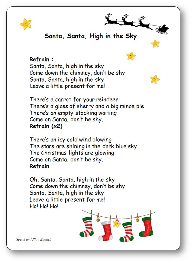 Christmas Cookies Song Lyrics  Chansons et ptines en anglais Speak and Play English