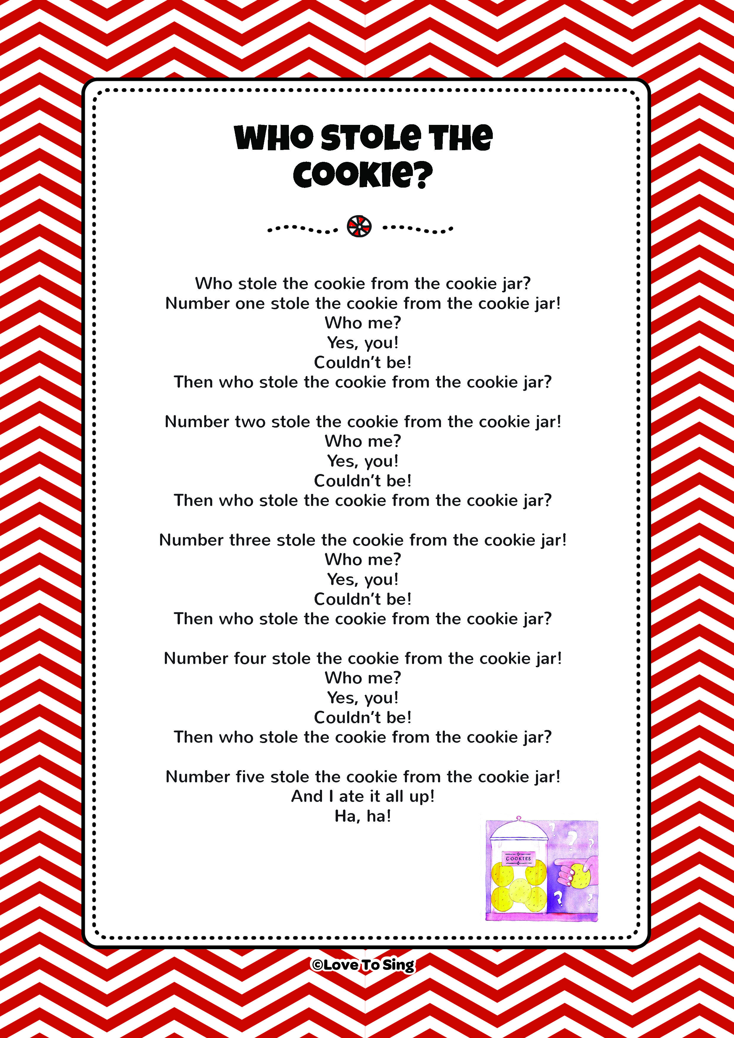 Christmas Cookies Song Lyrics  Who Stole The Cookie
