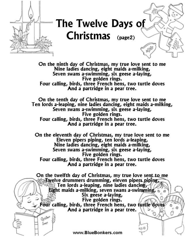Christmas Cookies Song Lyrics  17 Best ideas about Twelve Days Christmas on Pinterest