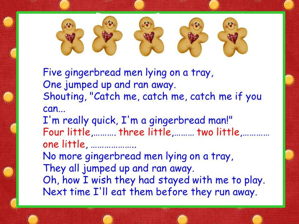 Christmas Cookies Song Lyrics  Five Little Gingerbread Men song