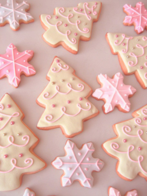 Christmas Cookies Tumblr  pink christmas cookies