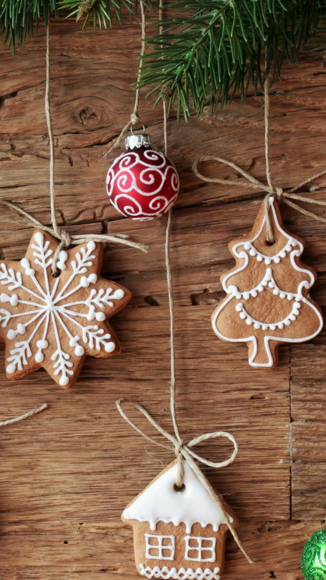 Christmas Cookies Wallpaper  Download Christmas cookies ornaments 1080 x 1920