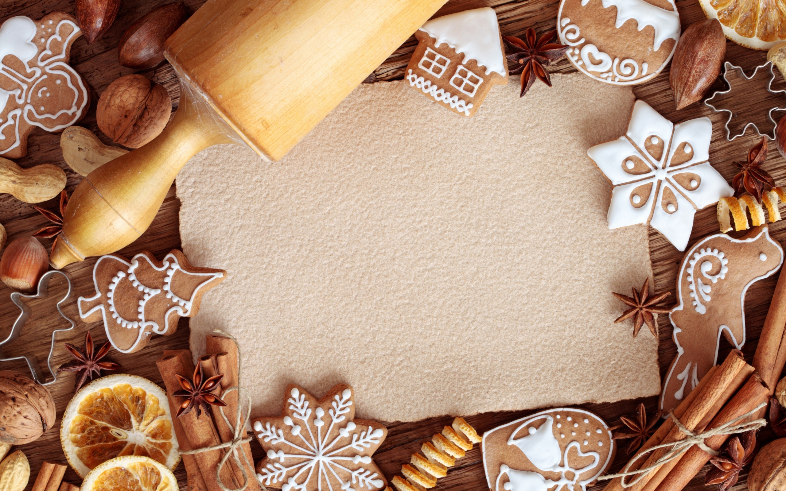 Christmas Cookies Wallpaper  Preparation of Christmas cookies Desktop wallpapers