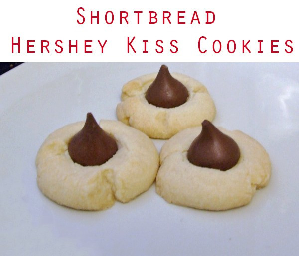 Christmas Cookies With Hershey Kisses  Shortbread Hershey Kiss Cookies Recipe