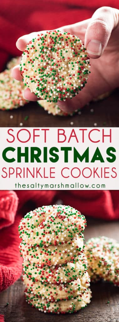Christmas Cookies With Sprinkles  Soft Batch Christmas Sprinkle Cookies The Salty Marshmallow