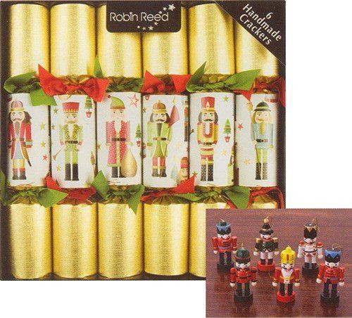 Christmas Crackers Amazon  6 pc Traditional Nutcracker Christmas Crackers 680 Robin