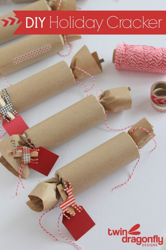 Christmas Crackers Diy  DIY Holiday Cracker Dragonfly Designs