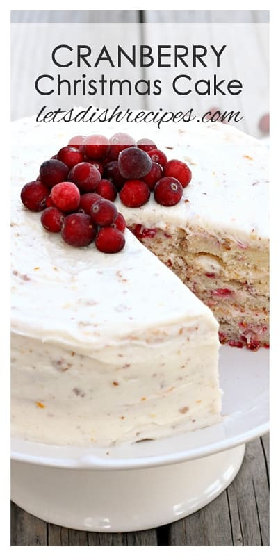 Christmas Cranberry Cake Recipe  Cranberry Christmas Cake — Let s Dish Recipes
