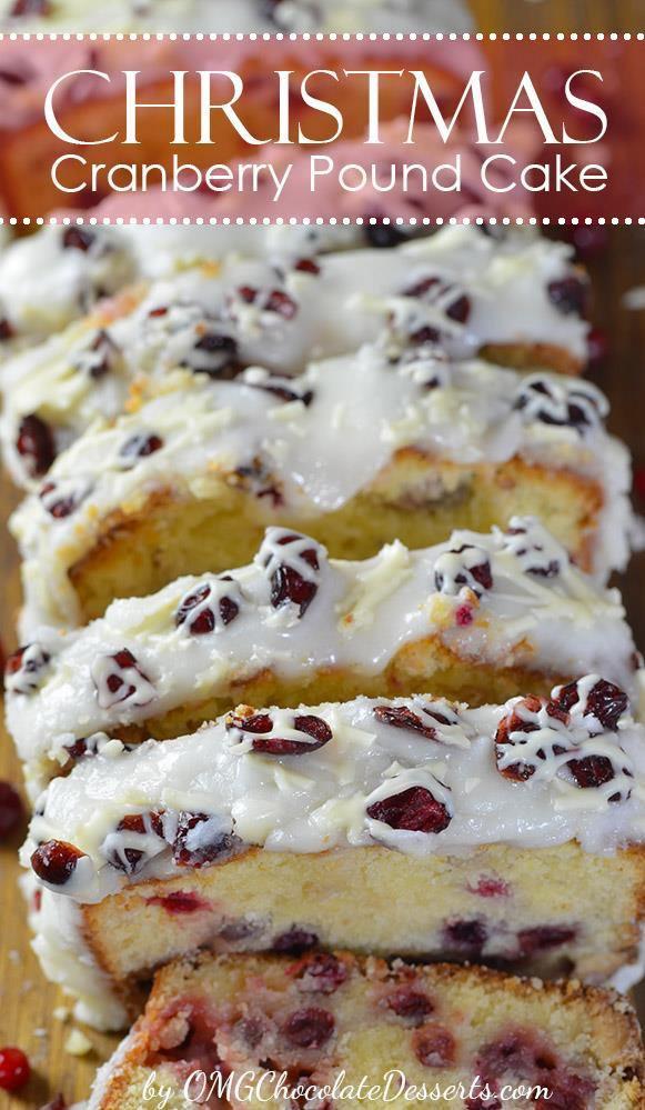 Christmas Cranberry Pound Cake  Christmas Cranberry Pound Cake
