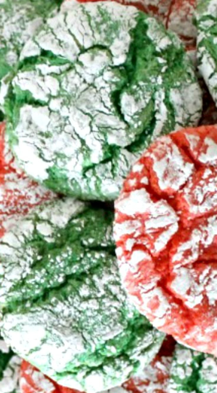 Christmas Crinkle Cool Whip Cookies  1371 best images about Christmas Time ♥ on Pinterest