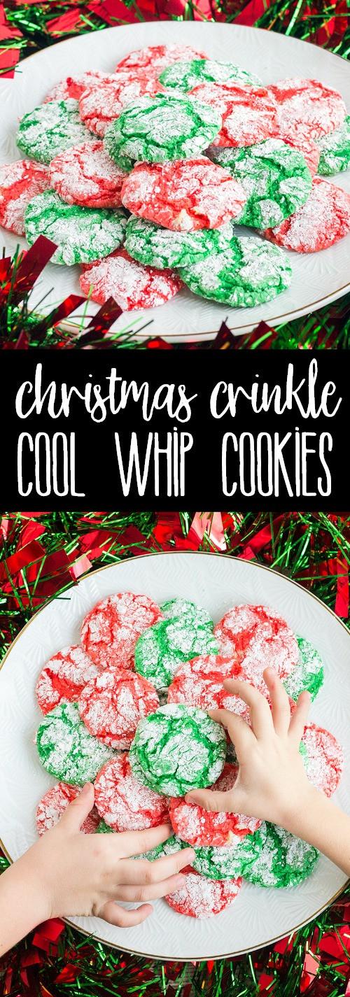 Christmas Crinkle Cool Whip Cookies  Christmas Crinkle Cool Whip Cookies PIN14 • Bread Booze Bacon