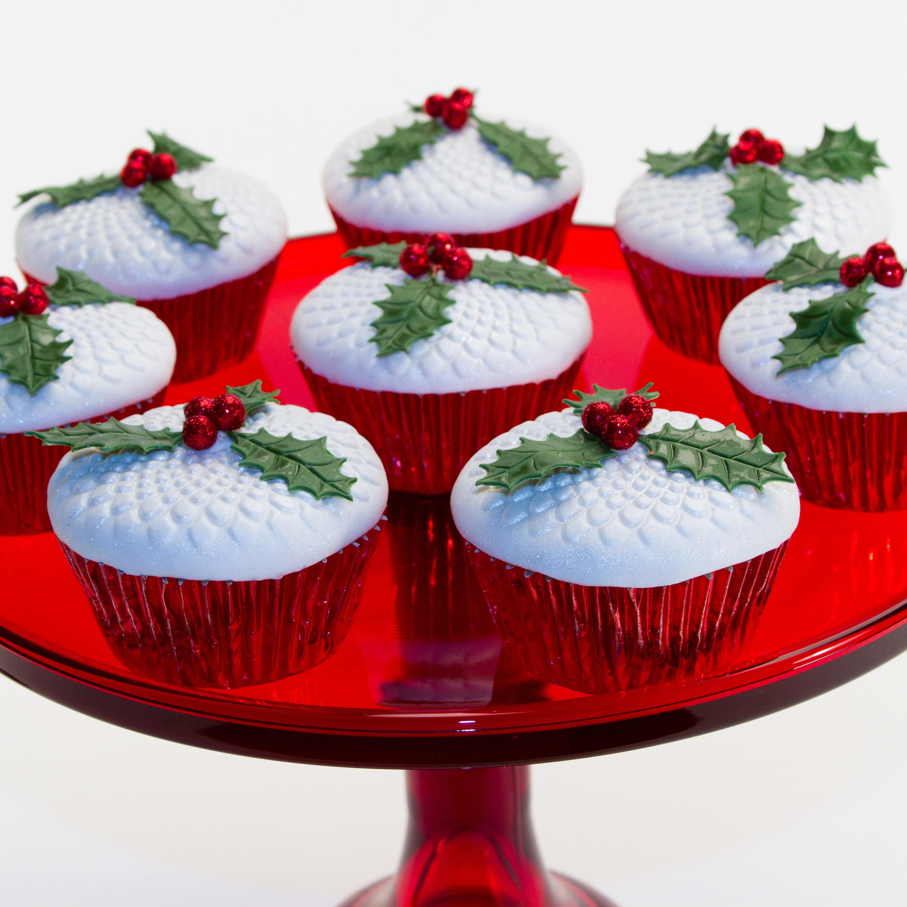 Christmas Cup Cakes Designs  Christmas