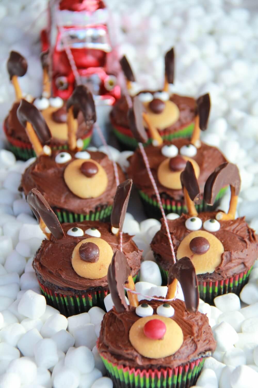 Christmas Cup Cakes  Chocolate Reindeer Cupcakes Half Baked Harvest