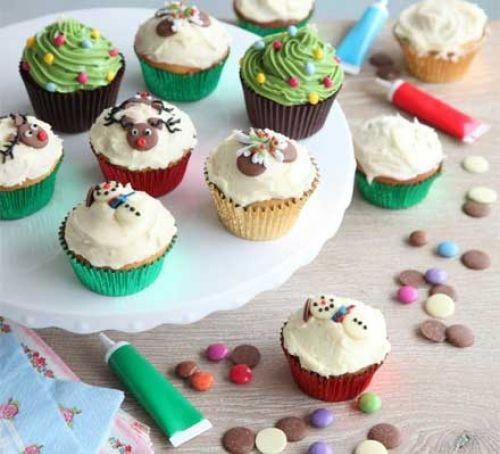 Christmas Cup Cakes  Christmas cupcakes recipe