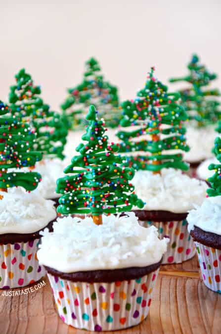 Christmas Cup Cakes  Just a Taste
