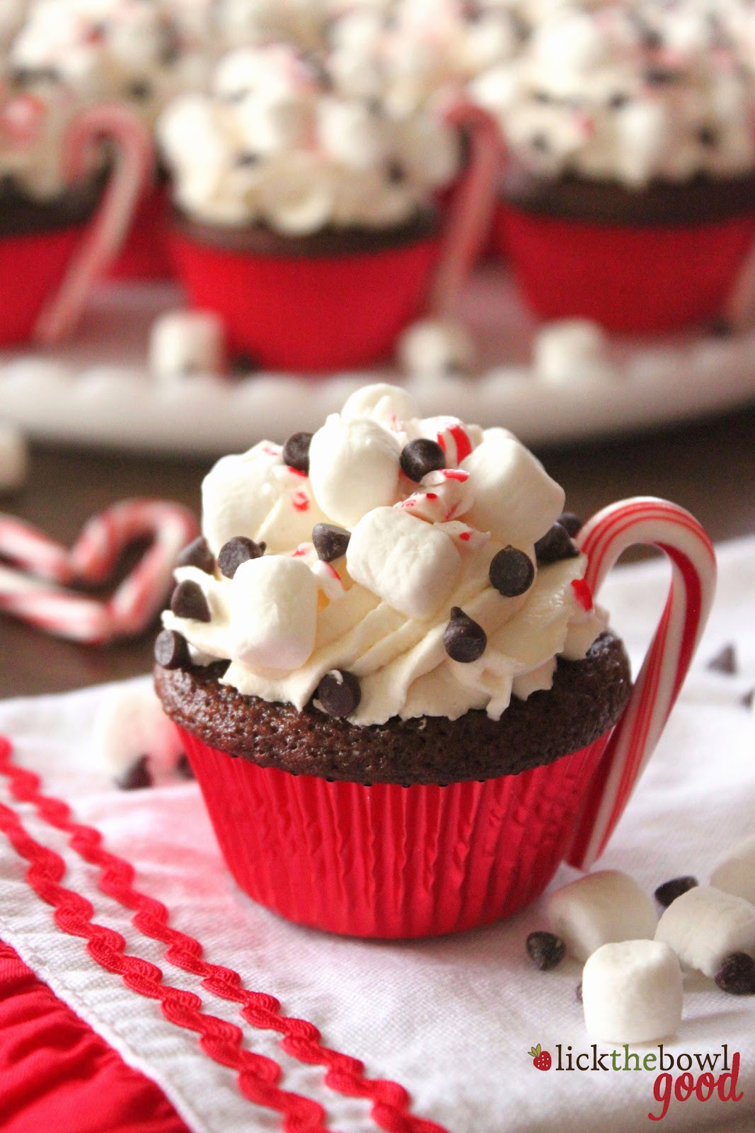 Christmas Cup Cakes  Lick The Bowl Good Hot Cocoa Cupcakes for People