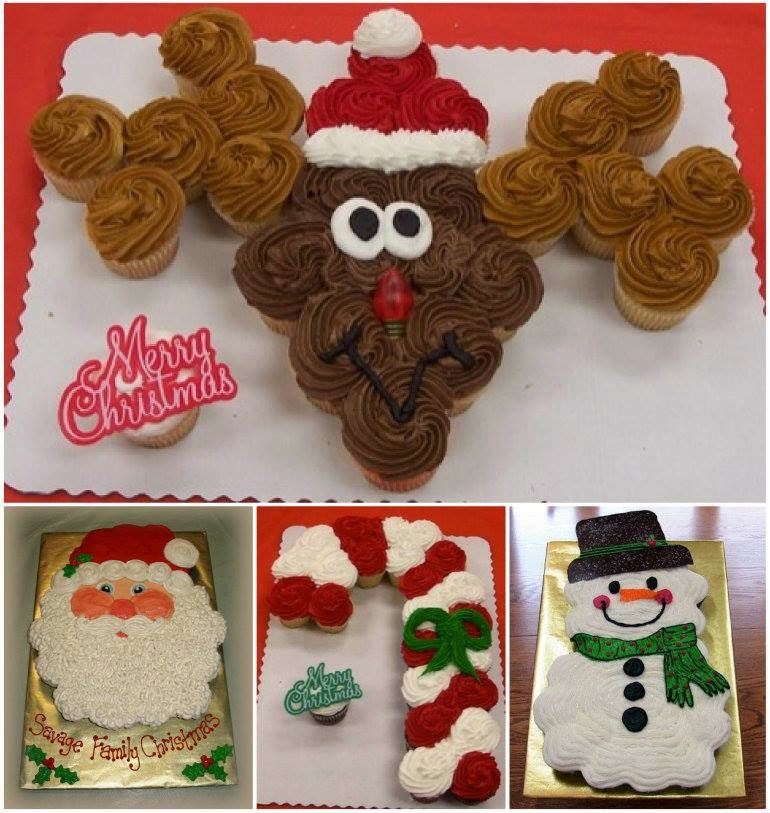 Christmas Cupcakes Cakes  Ideas & Products Christmas Pull Apart Cupcakes