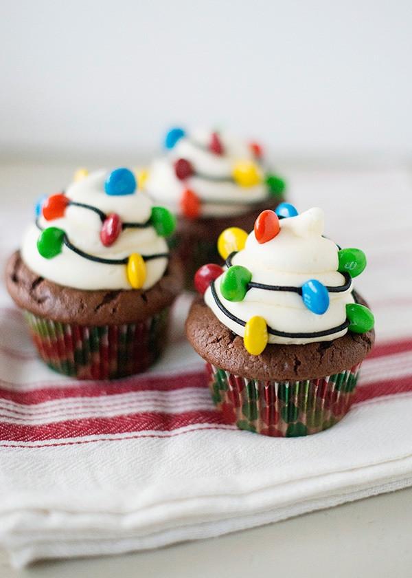 Christmas Cupcakes Ideas  Christmas Light Cupcakes Baked Bree