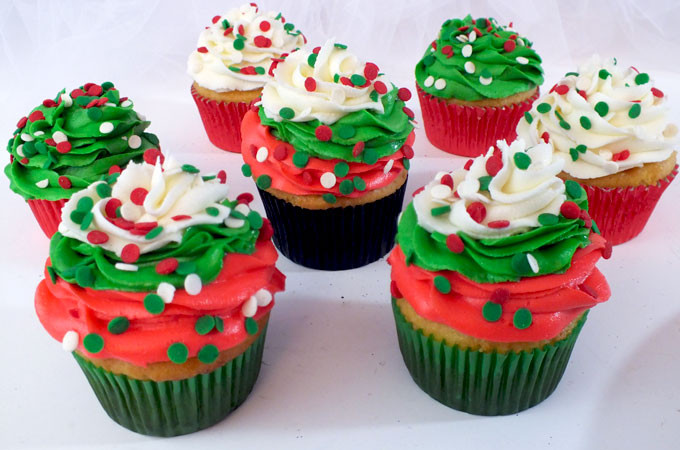 Christmas Cupcakes Images  Christmas Swirl Cupcakes Two Sisters