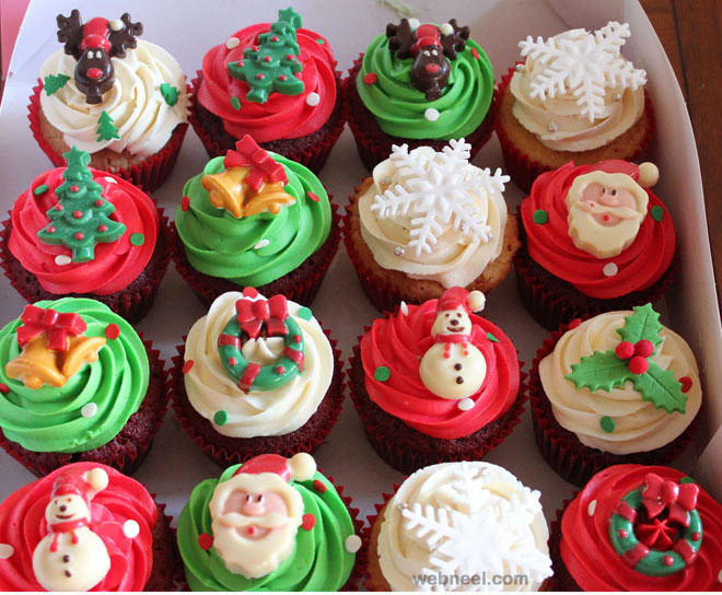 Christmas Cupcakes Images  25 Beautiful Christmas Cupcake Decorating ideas for your