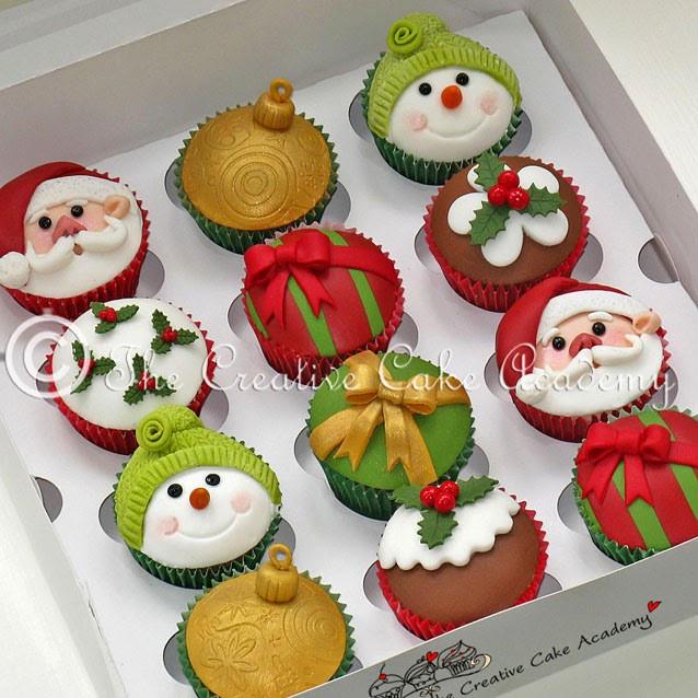 Christmas Cupcakes Pinterest  The Creative Cake Academy CHRISTMAS CUPCAKES