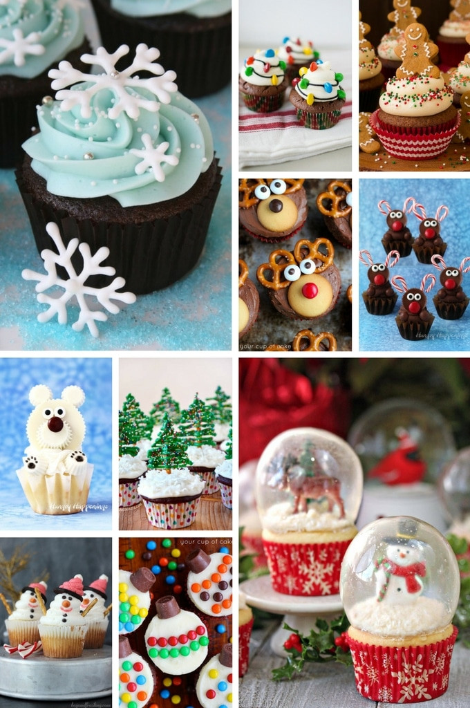 Christmas Cupcakes Pinterest  20 Impressive Christmas Cupcake Recipes Dinner at the Zoo