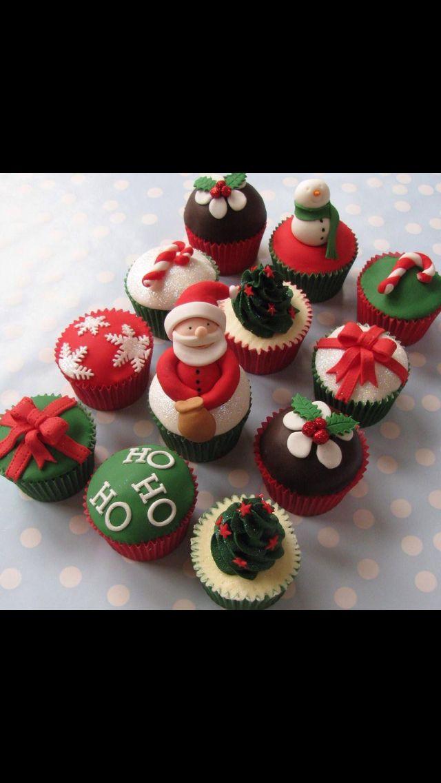 Christmas Cupcakes Pinterest  Christmas cupcakes Christmas