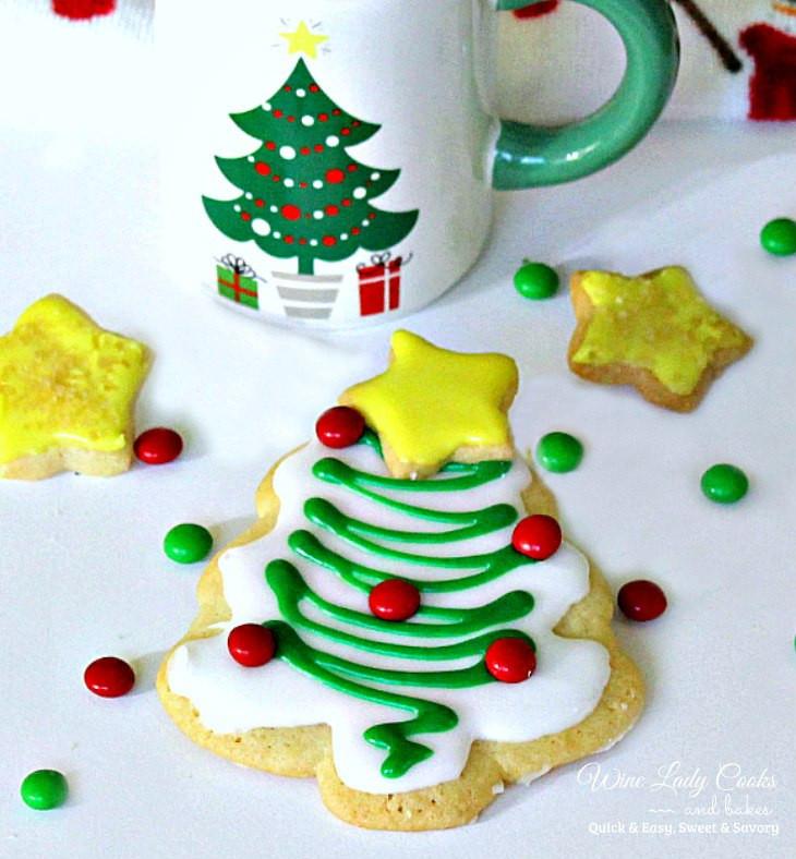 Christmas Cut Out Cookies  Christmas Tree Cutout Sugar Cookies