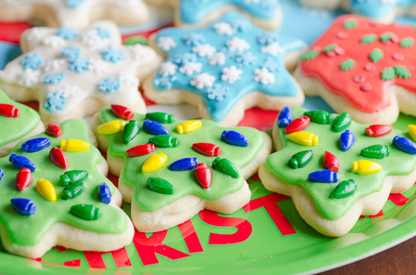 Christmas Cut Out Cookies  Soft Christmas Cut Out Sugar Cookies with Easy Icing