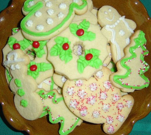 Christmas Cut Out Sugar Cookies  Elaines Holiday Cut Out Sugar Cookies Christmas Recipe